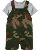 2-Piece Tee & Camo Shortall Set, , hi-res