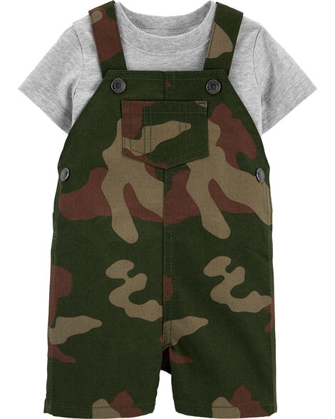 2-Piece Tee & Camo Shortall Set