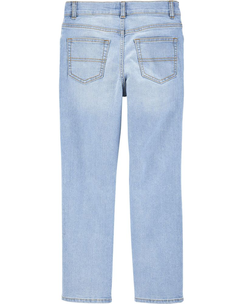 Stretch Rip and Repair Jeans - Slim Fit, , hi-res