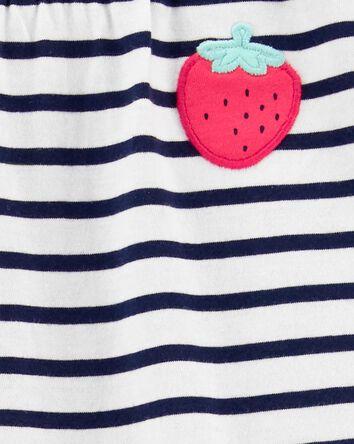2-Piece Strawberry Tee & Slub Pant...