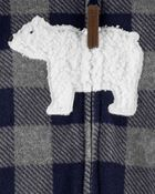 Combinaison à capuchon en molleton avec ours polaire, , hi-res