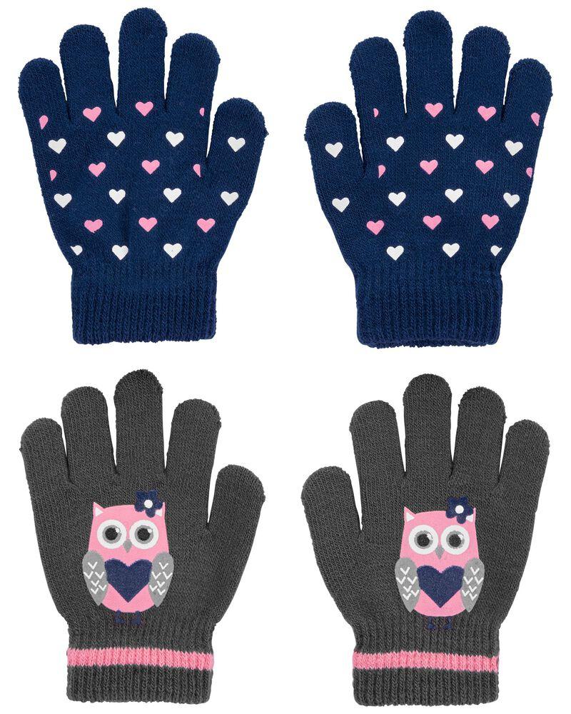 Emballage de 2 paires de mini gants hibou cœur KOMBI, , hi-res