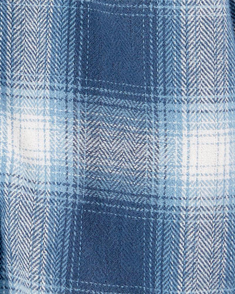 Plaid Button-Front Bodysuit, , hi-res