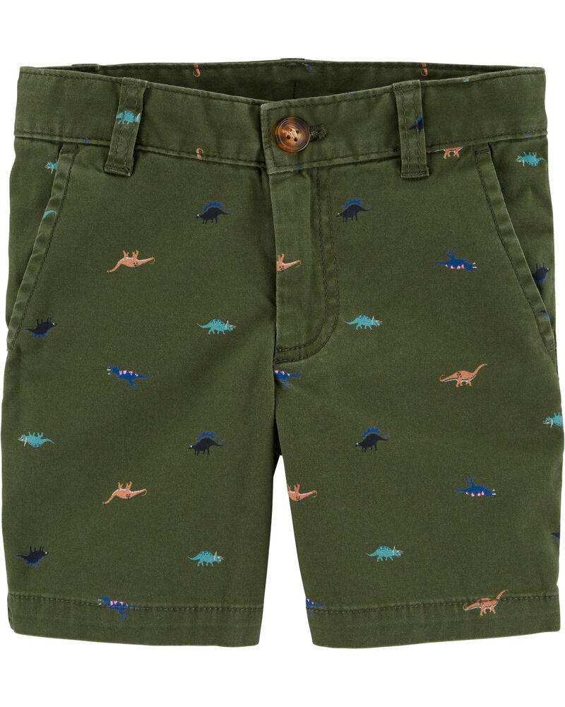 Dinosaur Flat-Front Shorts, , hi-res