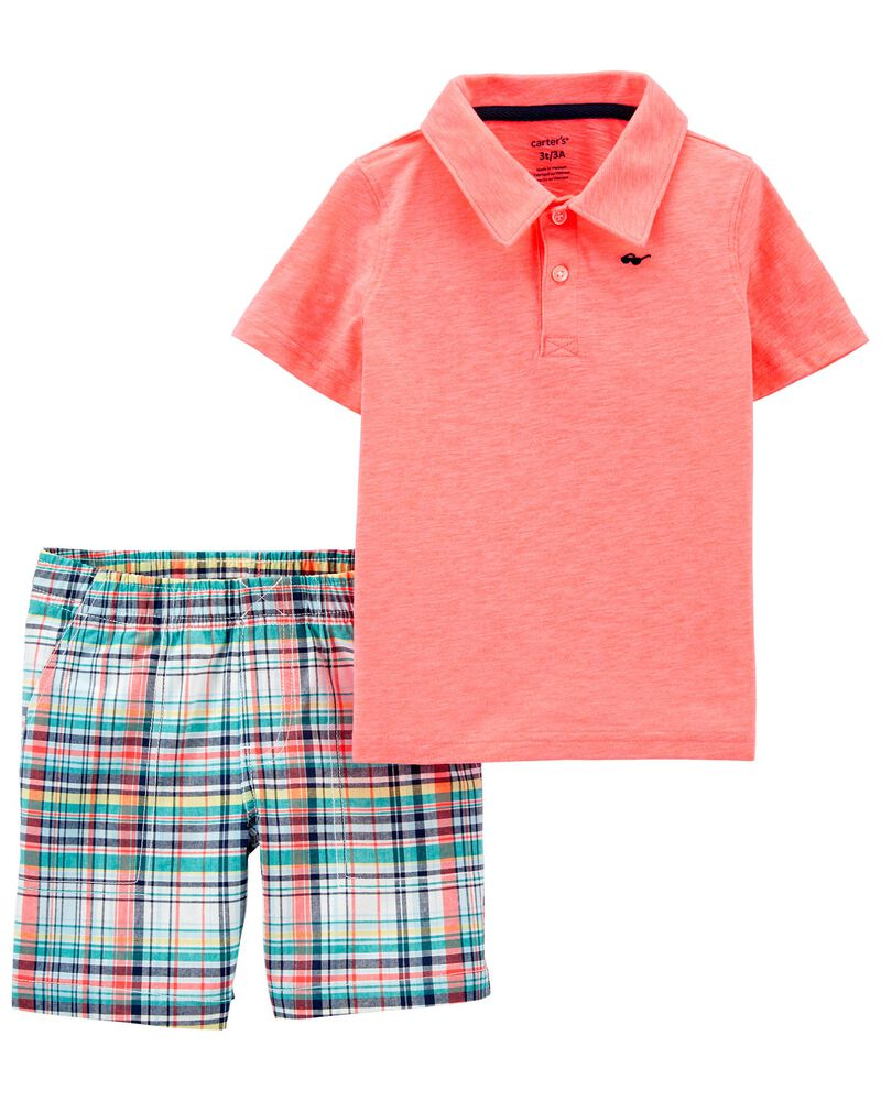 2-Piece Polo Shirt & Short Set, , hi-res