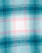 2-Piece Plaid Button-Front Shirt & Jegging Set, , hi-res