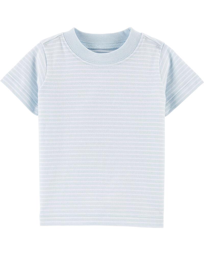 Ensemble 2 pièces t-shirt rayé et salopette courte à motif nautique, , hi-res