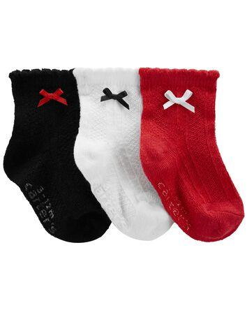 3 paires de chaussons pour bébé
