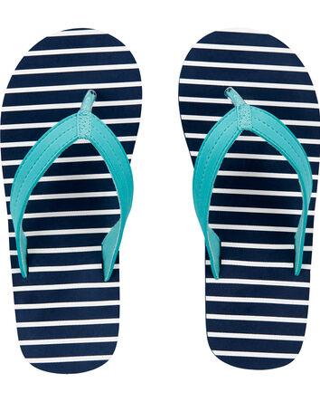 Striped Flip Flops