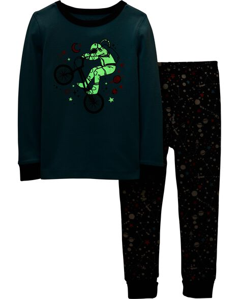 Snug Fit Glow-in-the-Dark Cotton PJs
