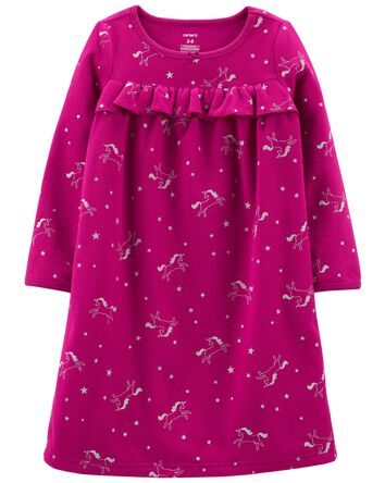 Robe de nuit en molleton avec licor...