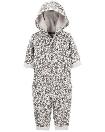 Hooded Leopard Jumpsuit