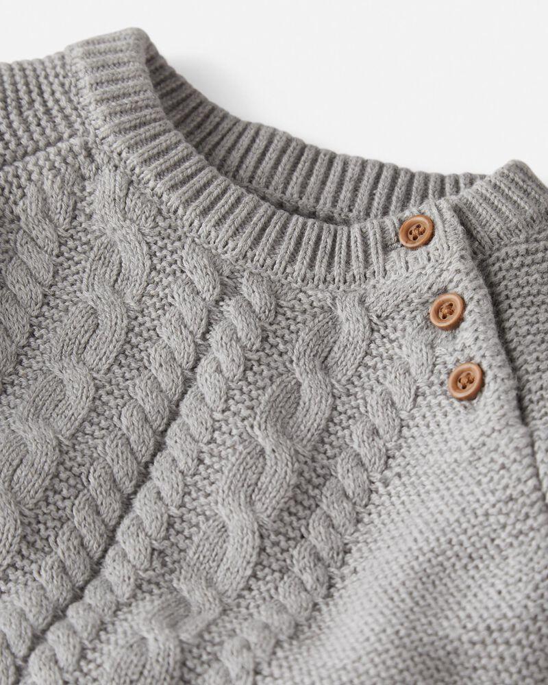 2-Piece Organic Cable-Knit Set, , hi-res