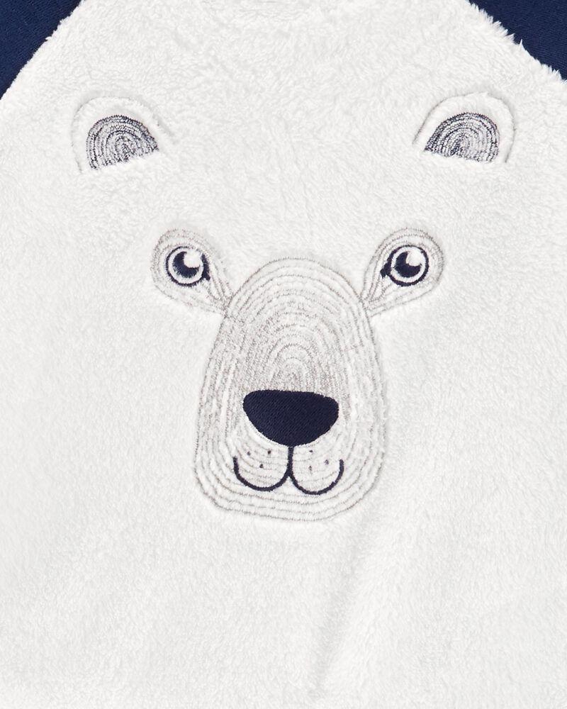 Ensemble 2 pièces chandail pelucheux avec ours et pantalon de jogging , , hi-res