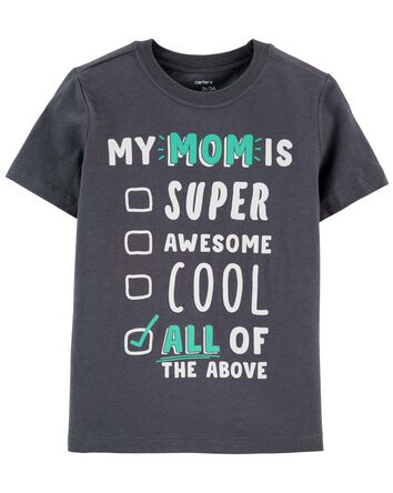 Mom Is Super Awesome Jersey Tee