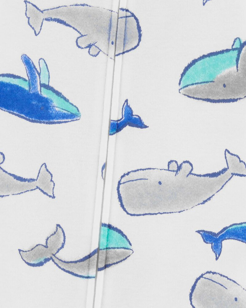 1-Piece Whale 100% Snug Fit Cotton Footless PJs, , hi-res