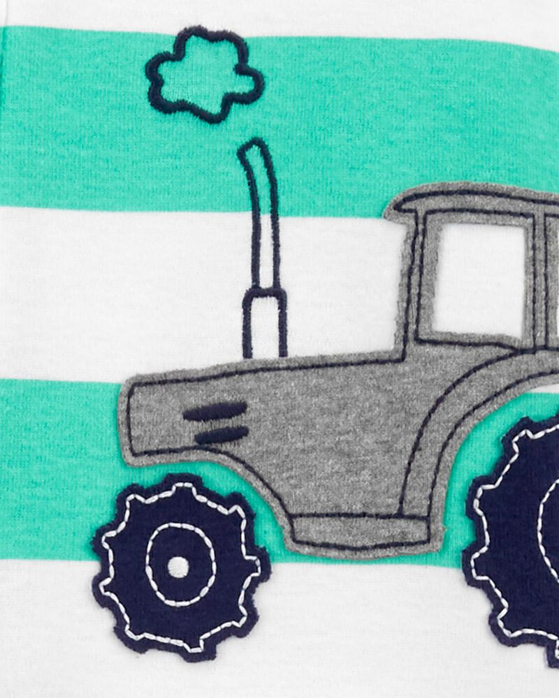 1-Piece Tractor 100% Snug Fit Cotton Footie PJs, , hi-res