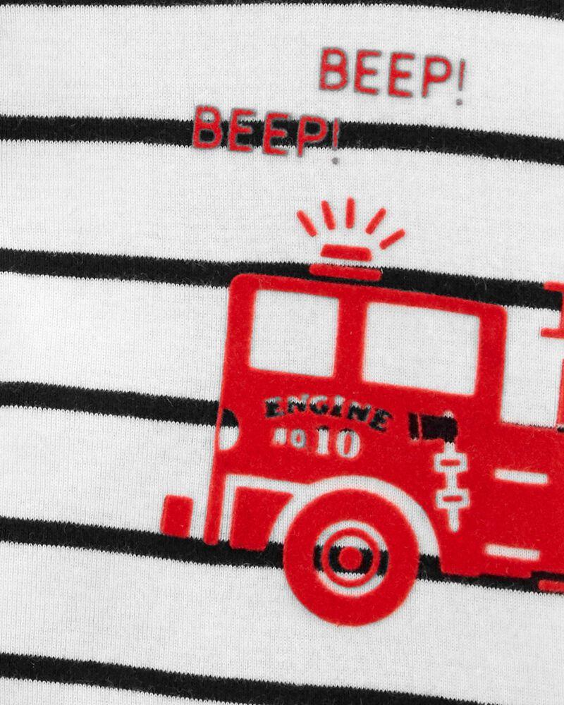 Striped Snap-Front Romper, , hi-res
