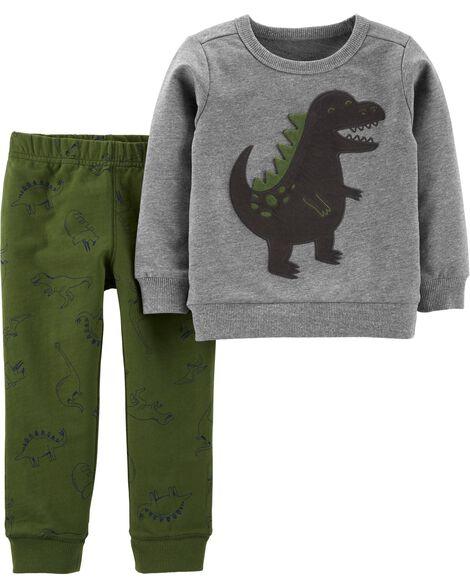 2-Piece Dinosaur Pullover & Jogger Set