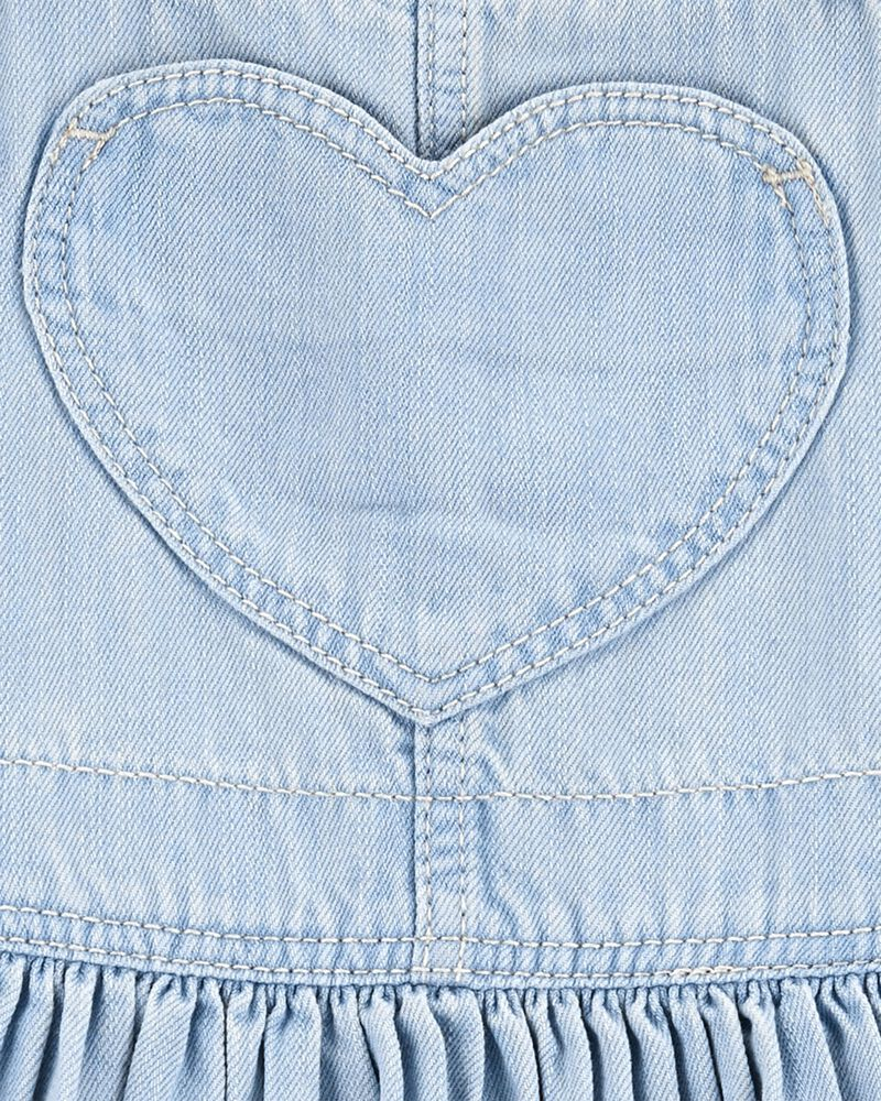 Heart Pocket Stretch Denim Jumper, , hi-res
