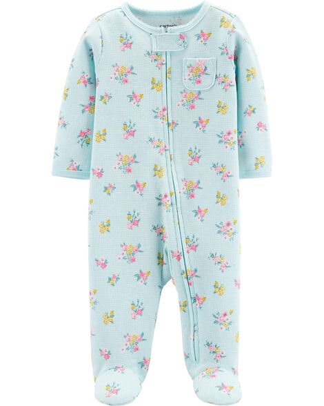 Floral Zip-Up Thermal Sleep & Play