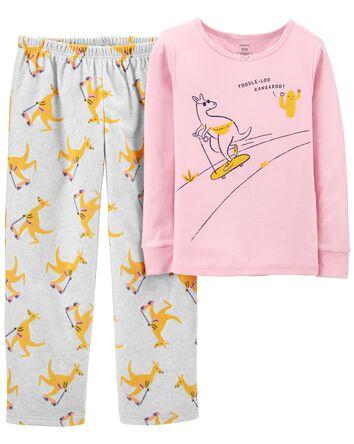 Pyjama 2 pièces en coton ajusté et...