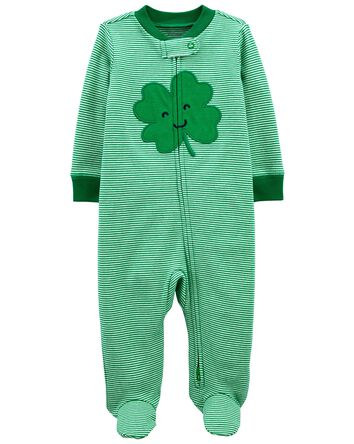 St. Patrick's Day Zip-Up Cotton Sle...