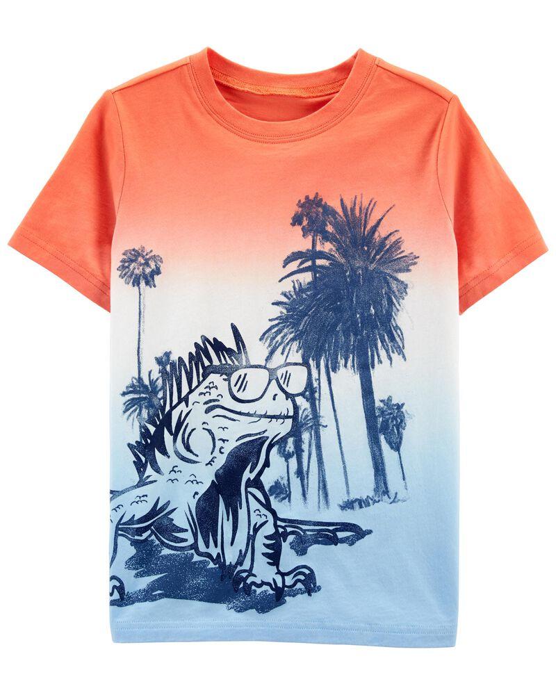 T-shirt teint en dégradé, , hi-res
