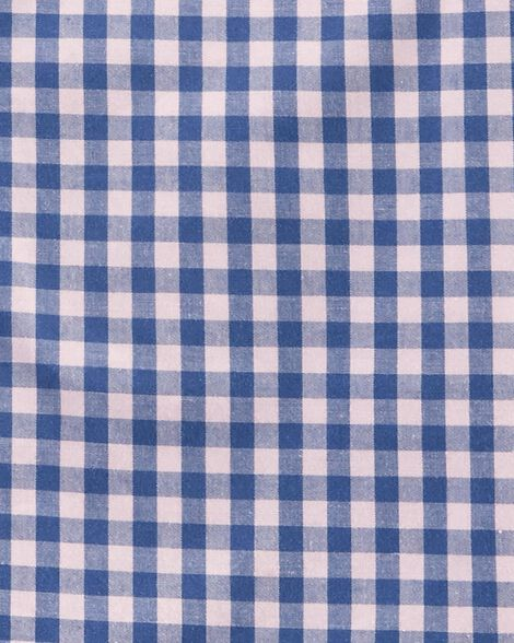 Gingham Poplin Button-Front Shirt