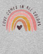 T-shirt en jersey arc-en-ciel, , hi-res