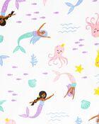 4-Piece Mermaid 100% Snug Fit Cotton PJs, , hi-res