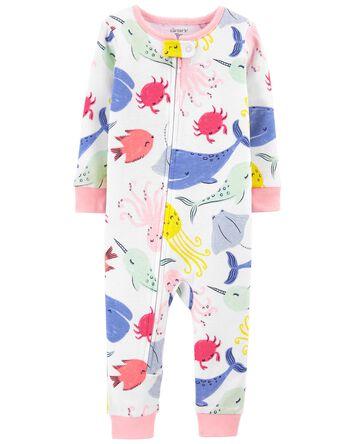 1-Piece Whales 100% Snug Fit Cotton...