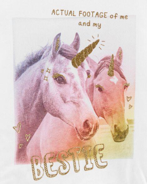 Glitter Bestie Unicorns Jersey Tee