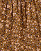 Tiered Floral Leopard Print Dress, , hi-res