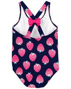 Strawberry 1-Piece Swimsuit, , hi-res