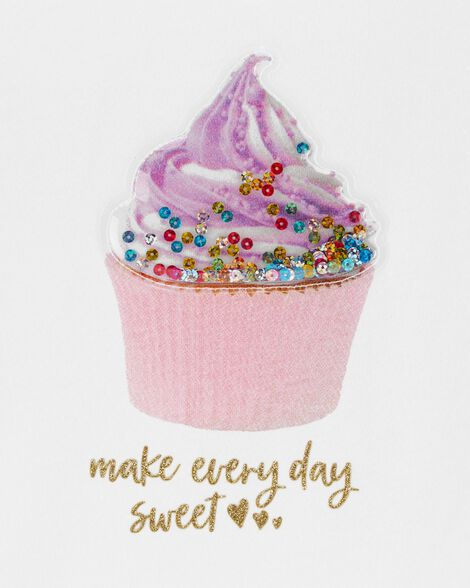 Interactive Cupcake Peplum Top