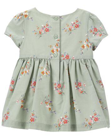 Floral Dress & Knot Bow Headwrap Se...
