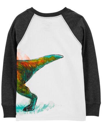T-shirt noué devant à tyrannosaure