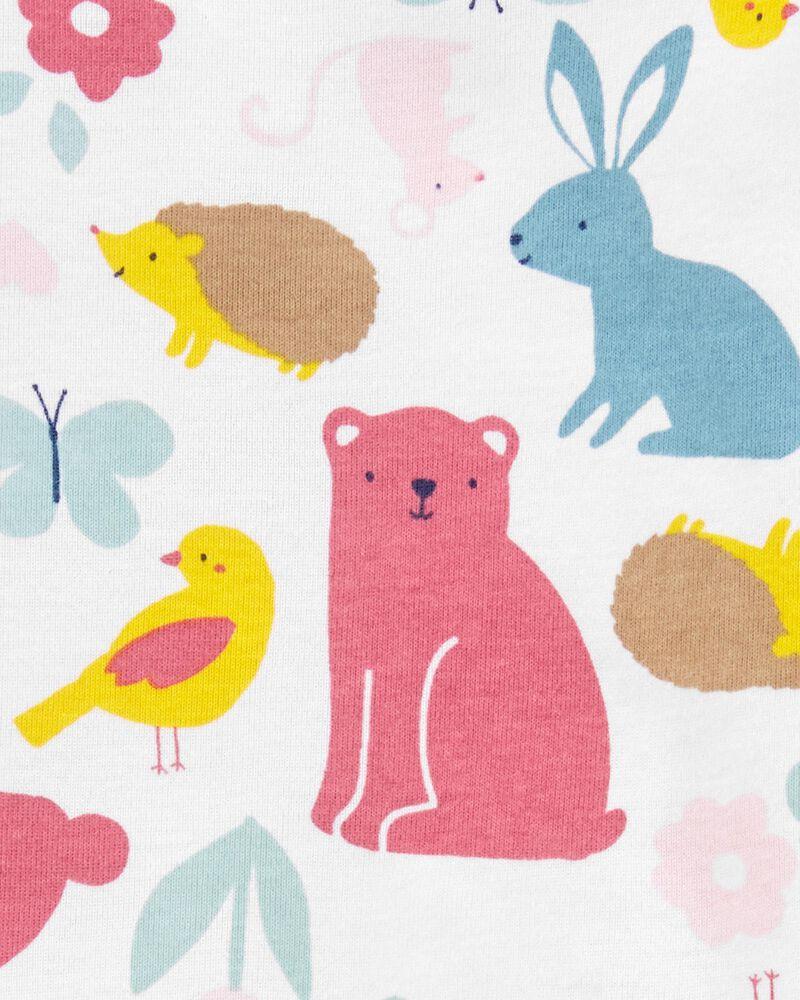 Pyjama 4 pièces en coton ajusté ours, , hi-res