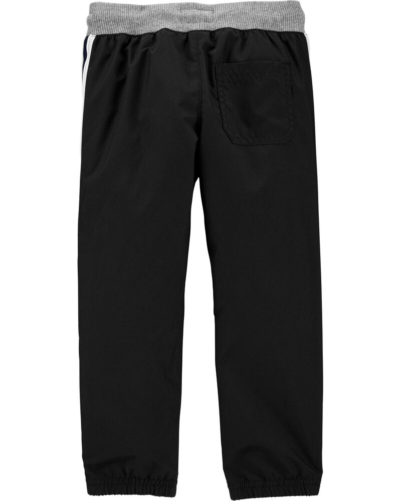 Jersey-Lined Active Joggers, , hi-res