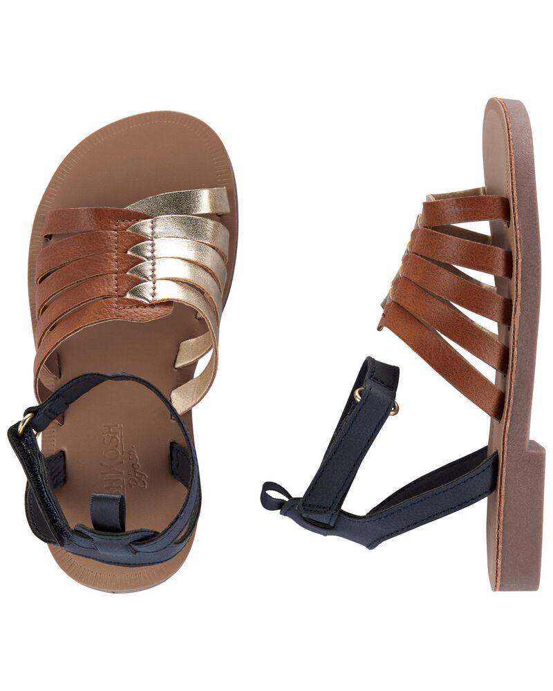 Sandales à brides de couleurs contrastantes, , hi-res