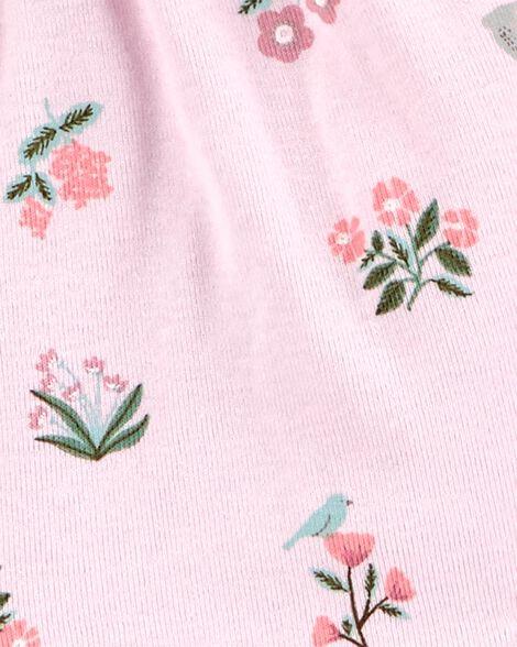 Ensemble 3 pièces petit cardigan fleuri