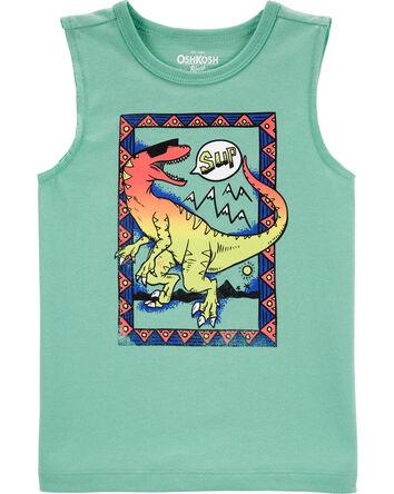 Haut sans manches dinosaure à effet...