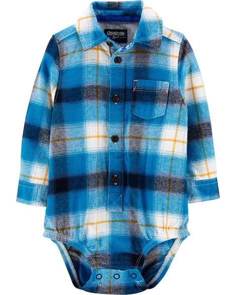 Plaid Flannel Bodysuit