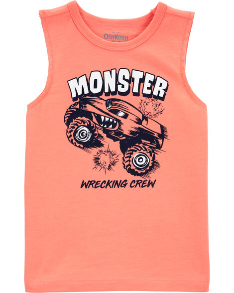 Monster Truck Muscle Tank