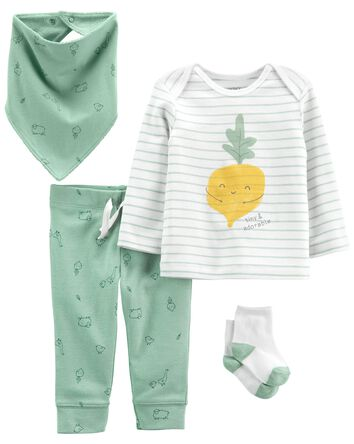 4-Piece Veggie Outfit Set