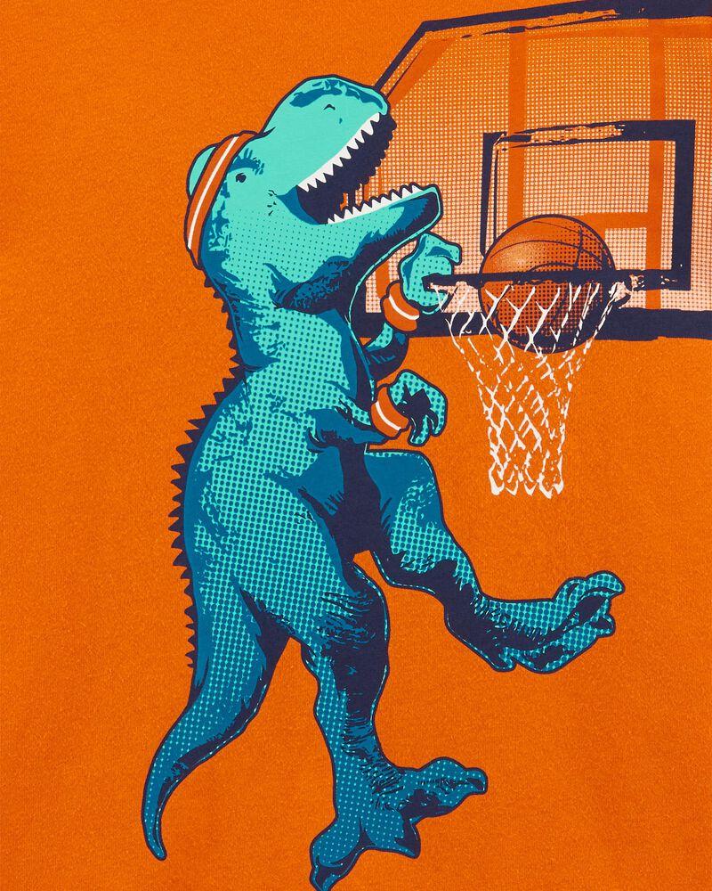 T-shirt en jersey basketball et dinosaure, , hi-res