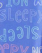 1-Piece Not Sleepy Fleece Footless PJs, , hi-res