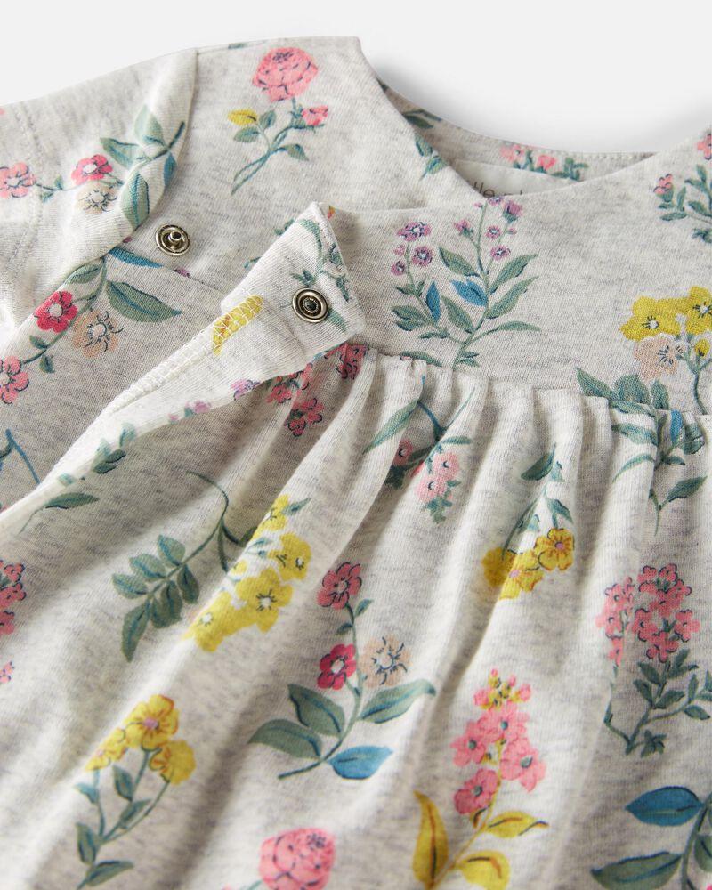 Organic Cotton Wrap-Front Dress, , hi-res