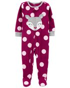 1-Piece Deer Fleece Footie PJs, , hi-res